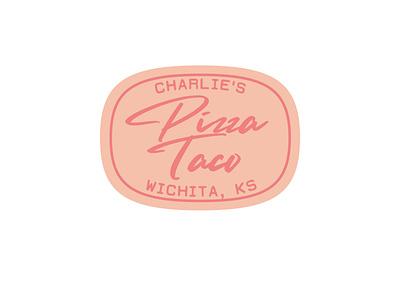 Charlie's Pizza Taco of Wichita, Kansas kansas wichita branding signage food american restaurant sign logo vector design