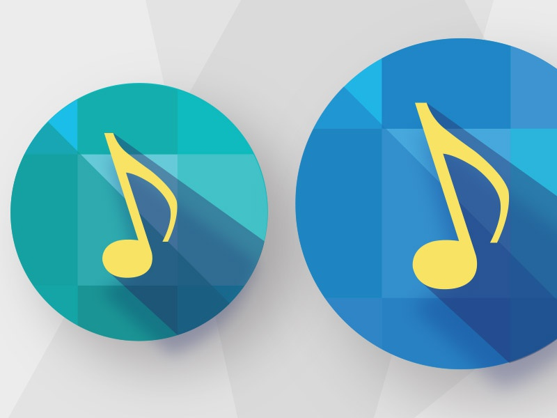 Illustrative icon exploration shadows music style guide blue studies isometric diamonds icons color