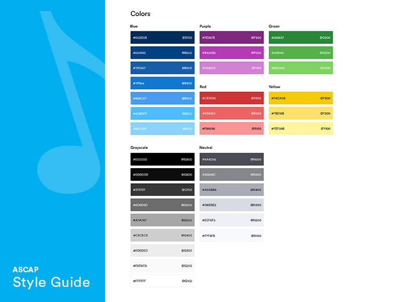 Styleguide - Color Palette color palette accessibility templates collaboration style guide color studies