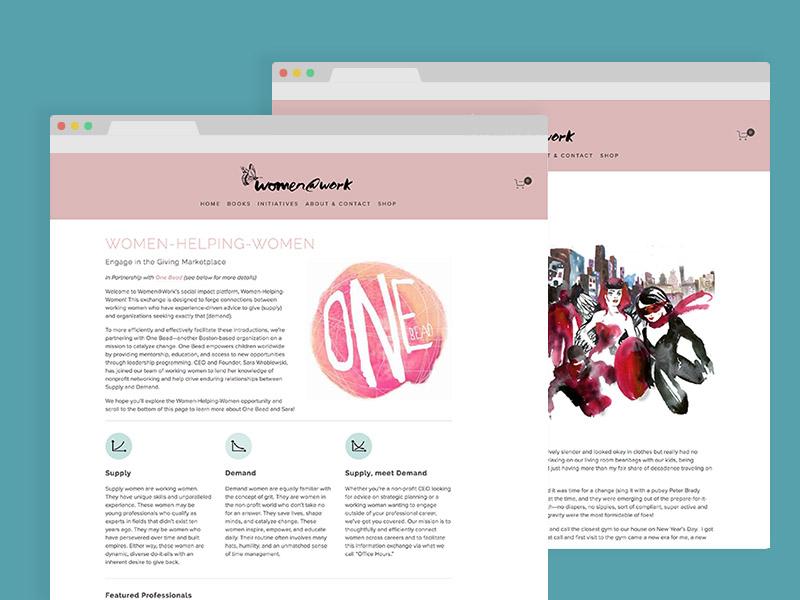 Women@Work website close up icons illustration templates branding responsive ux ui web design