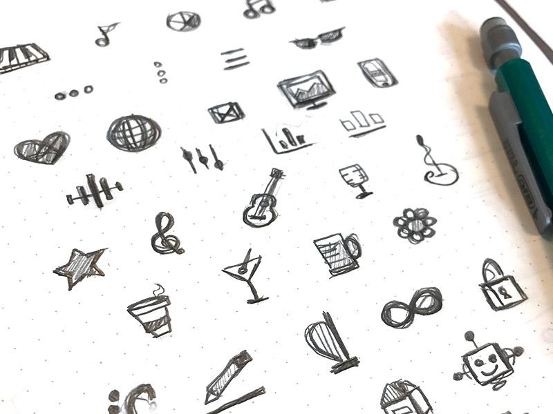 Icon Notebook product design user experience design integration design brand holistic ui ux web design branding icons icon design