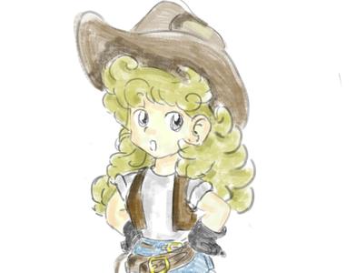 vaquera girl anime illustration