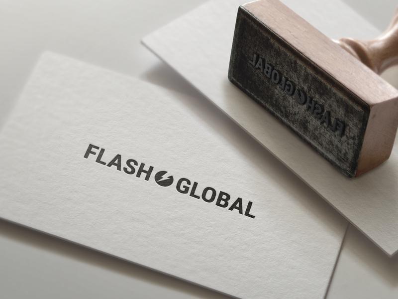 Flashglobal logo bw flash black minimalism logodesign logotype designer logo design