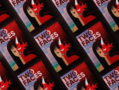 Anime book cover designer two book design book cover book anime vector illustration logo logodesign design