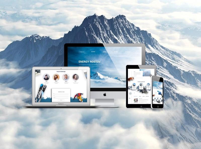 Landing page for sport team branding sport mountains nature landing design landing page landing webdesign design