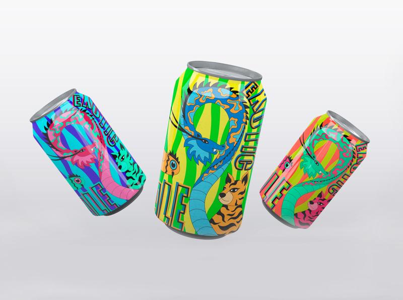 beer label design designer branding animals colorful tropical packaging label beer label beer vector illustration design