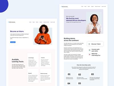 HNG Tech Redesign branding figma figmaafrica homepage hero page uidesign adobe illustrator minimalist website