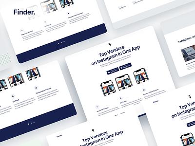 Finder Website UI, #Exploration figmaafrica nigeria illustration typography shopping app logo figma adobexd adobe illustrator design website branding minimalist