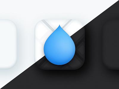 Drop - iOS App Icon water big sur resource figma drop app iconography icon logo branding ios freebie design ui