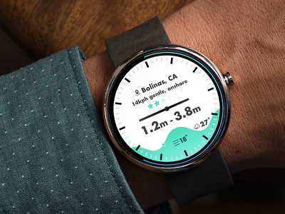Time to surf moto 360 connected device user interface smart watch sport data surfing magicseaweed ui iot watch surf