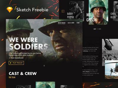 Sketch FREEBIE: Movie Landing Page - We Were Soldiers