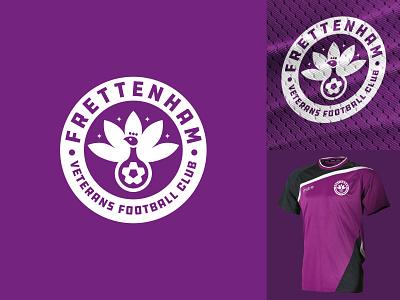 Frettenham fc logo One minimal mascot logo football mascot identity illustration vector logo branding design