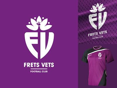 Frettenham fc logo two football mascot logo mascot minimal identity illustration vector logo branding design