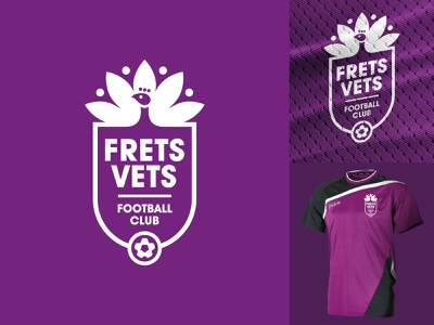 Frettenham fc Logo Three football mascot logo mascot minimal identity illustration vector logo branding design