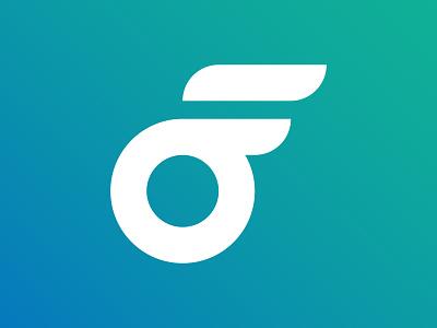O+F icon icon minimal identity vector logo branding design