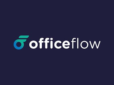 OfficeFlow Master logo typography icon minimal identity vector logo branding design
