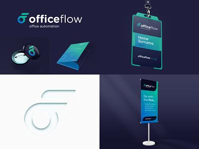 OfficeFlow branding typography icon minimal identity logo branding design