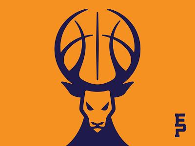 Eaton Park Bucks deer bucks sport basketball mascot illustration identity logo branding design
