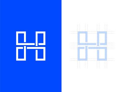 H icon minimal h icon identity vector illustration logo design branding