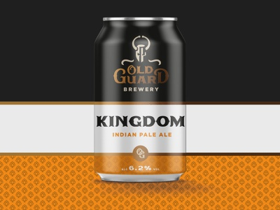 Old Guard Brewery IPA knight brewery beer can beer can identity vector logo design branding