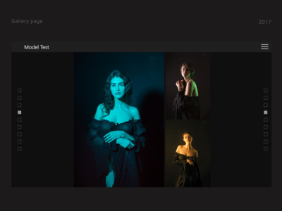 Gallery page for the photographer's site