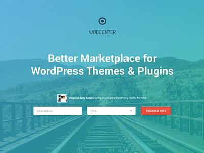 WooCenter Landing Page landing page launch subscribe wordpress