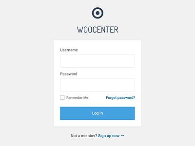 WooCenter Login Form wordpress login sign in