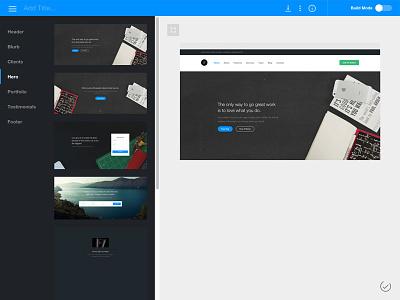 One Page Website Builder onepage builder website web app