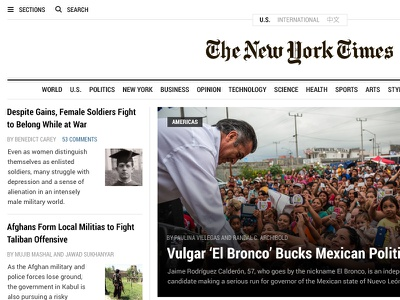 NYTimes.com Redesign redesign website news magazine