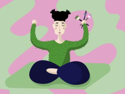 Meditation artist