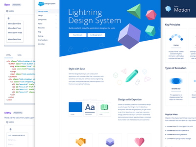 Introducing the Salesforce Lightning Design System salesforce ui library css framework style guide design system