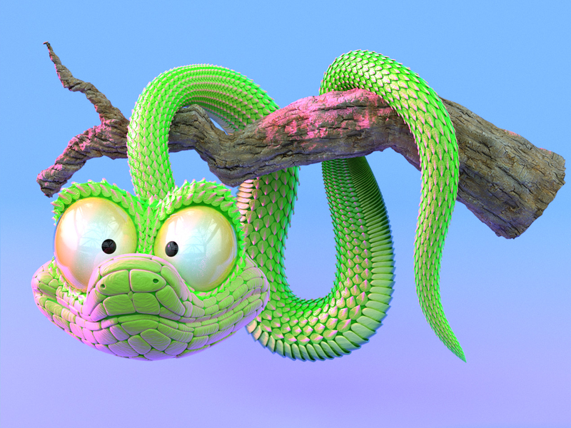 Snake2 snake cycles concept art character design character cartoon character cartoon blender 3d art 3d animation 3d