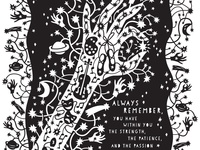 Reach for the Stars Papercut Poster
