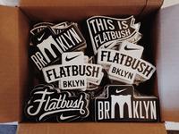 Flatbush Nike Stickers