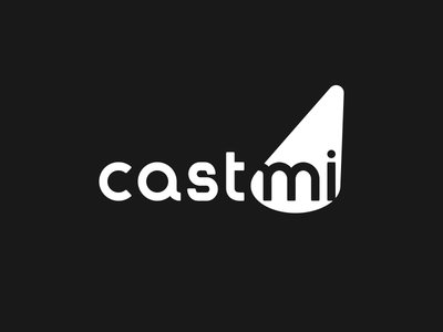 Castmi Logo logo logo design branding minimal casting cast cinema spotlight stage typography lowercase font