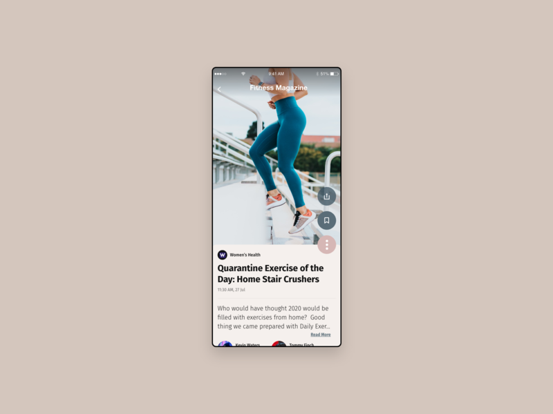 Workout of the Day magazine design magazine blog design blog post blogger blog workout of the day workout app workout daily 100 challenge daily ui dailyui daily ui ux  ui uxui ux uidesign design conoverdesigns