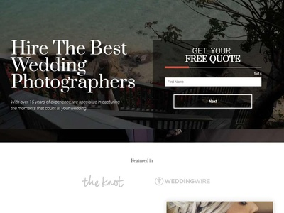 Landing Page Wedding Photographers