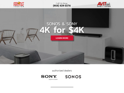 Landing Page for Sony 4k