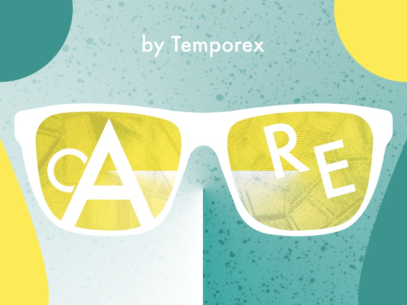 Care by Temporex challenge rebound design geometric type color palette texture typehue temporex music care album
