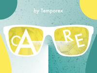 Care by Temporex challenge rebound design geometric type color palette texture typehue temporex music care album