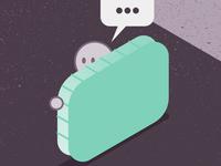 Massive Toast WordSmash speech bubble food toast massive wordsmash typehue icon color design isometric illustration