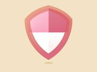 Shield icon shield color design typehue illustration icon
