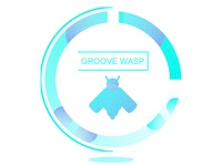Groovewasp color digital touch code tech groovewasp design logo typehue