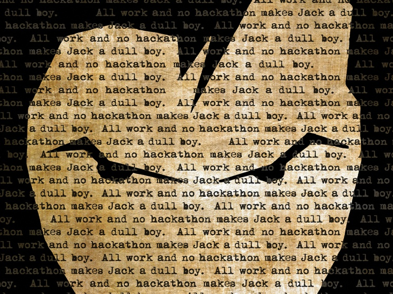 Hacking Jack poster halloween hackathon booking.com