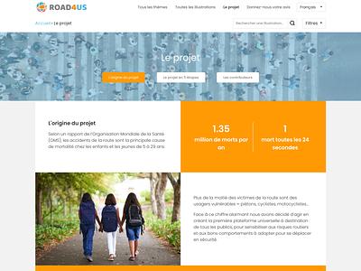 Road4us website design web ui ux
