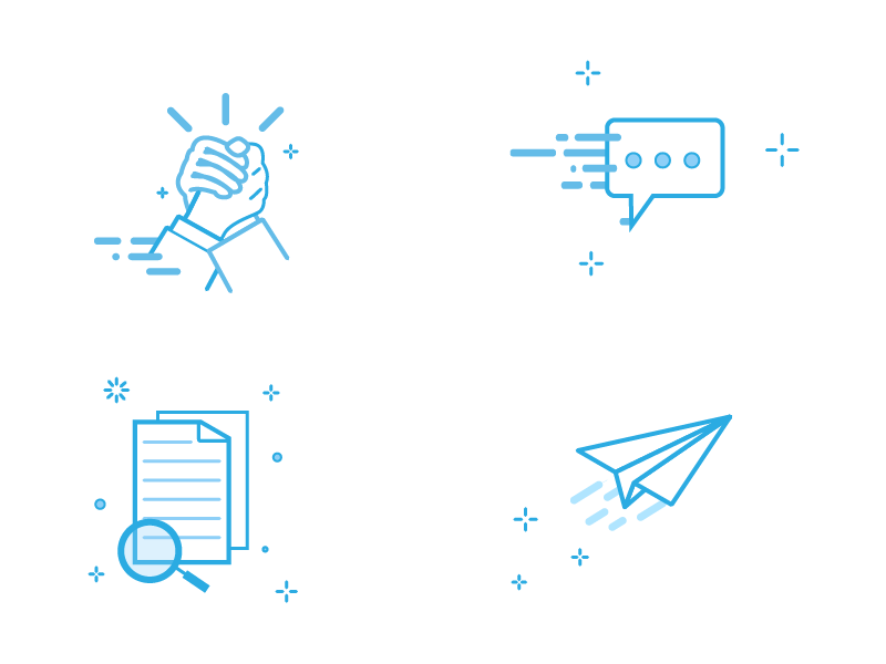 Blue Icons By Opaline On Dribbble