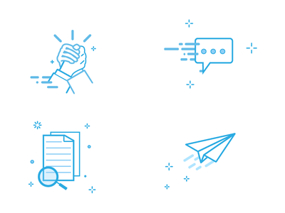 Blue icons design ui iconset website vector web concept simple modern illustration illustrator flat illustration flat icons