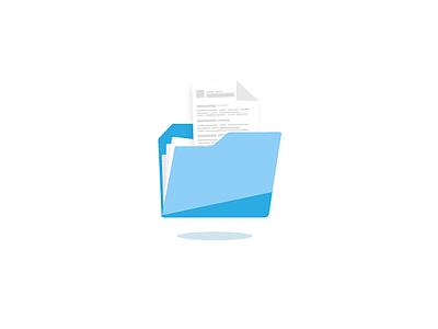 Folder icon for CVDesignR Pro vector blue education illustration identity icon design cvdesignr cv office folder icon