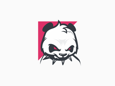 Panda Pink animal angry panda