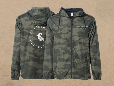 Blacksheep Branded Windbreaker photoshop mockup jacket camouflage camo branding logo windbreaker hypebeast street wear street fashion fashion designer fashion design fashion brand